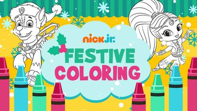 Nick Jr. Festive Coloring   Nick Jr.
