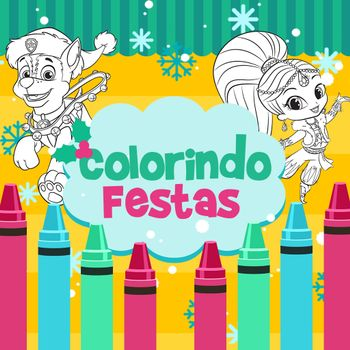 Colorindo o Natal com Nick Jr