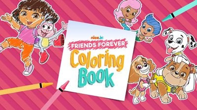 Nick Jr Friends Forever Coloring Book