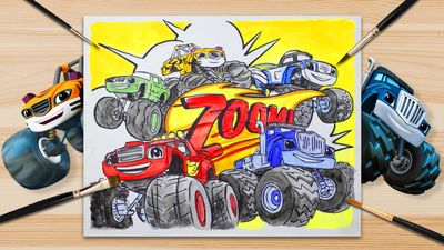 1 2 3 Color Blaze And The Monster Machines