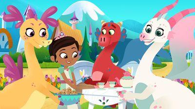 nella uma princesa corajosa festa do chá do dragão vídeos e