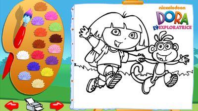 Joue en ligne au jeu colorie avec dora de dora l 39 exploratrice - Jeux de nick junior ...