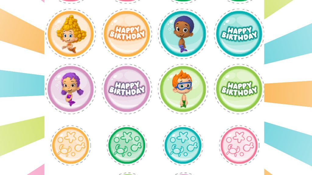 Bubble Guppies Printable Party Stickers