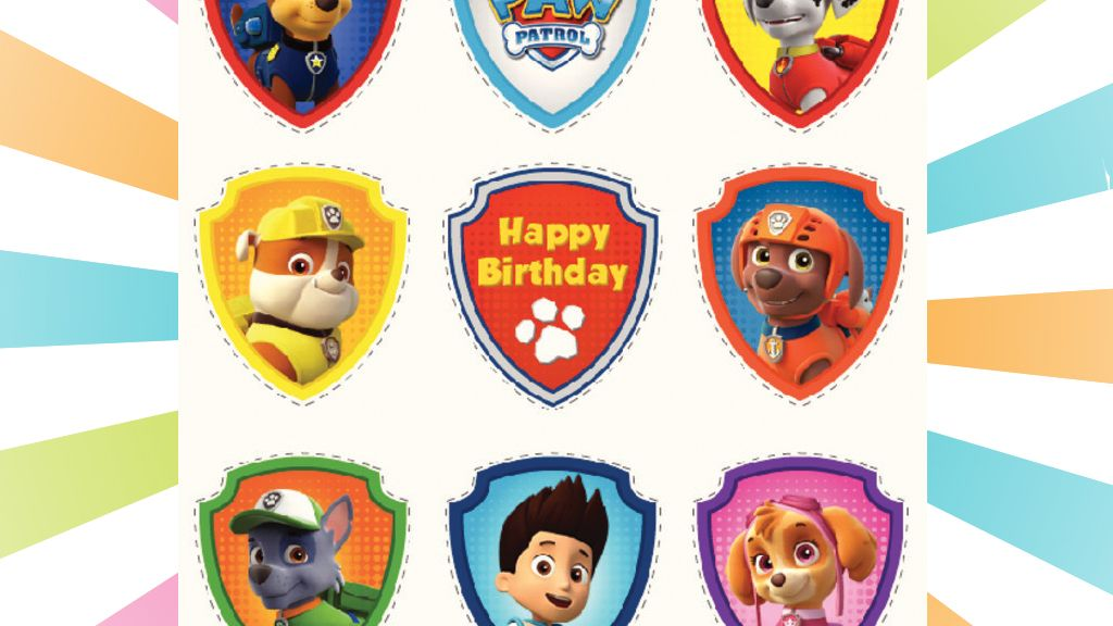 Paw Patrol Party Cupcake Toppers