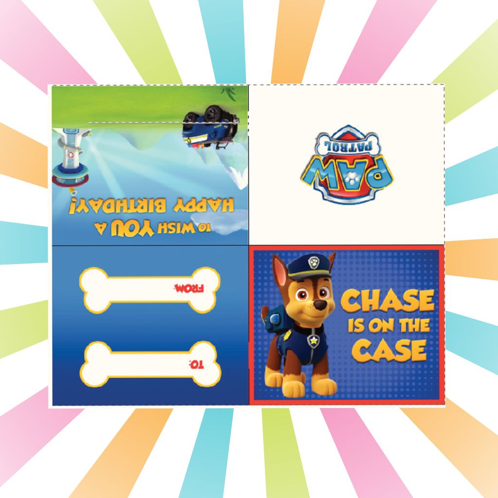 photograph relating to Paw Patrol Printable Birthday Card named PAW Patrol: Chase Pull Tab Birthday Card