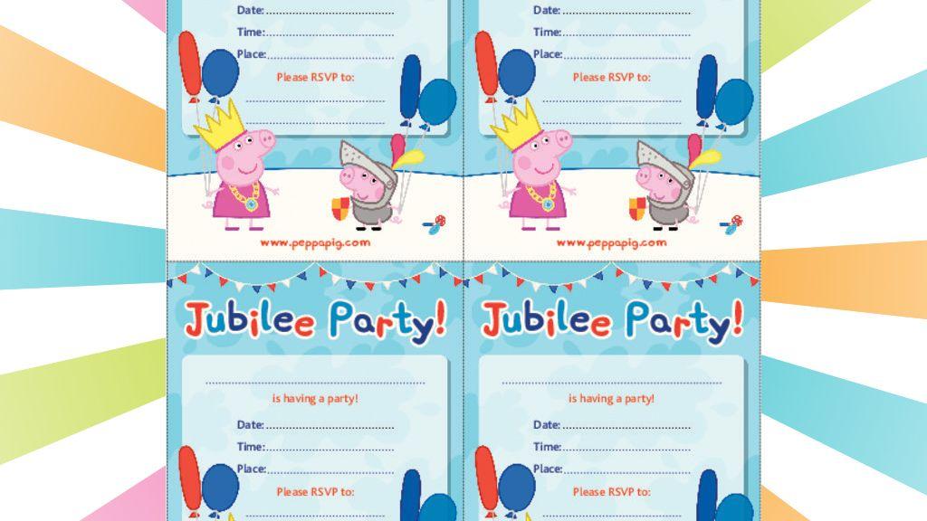 Peppa Pig: Jubilee Party Invitation