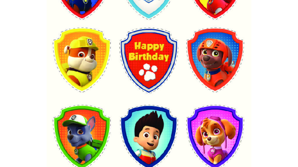 PAW Patrol|PAW Patrol - Party Cupcake Toppers: Colouring Pages for ...