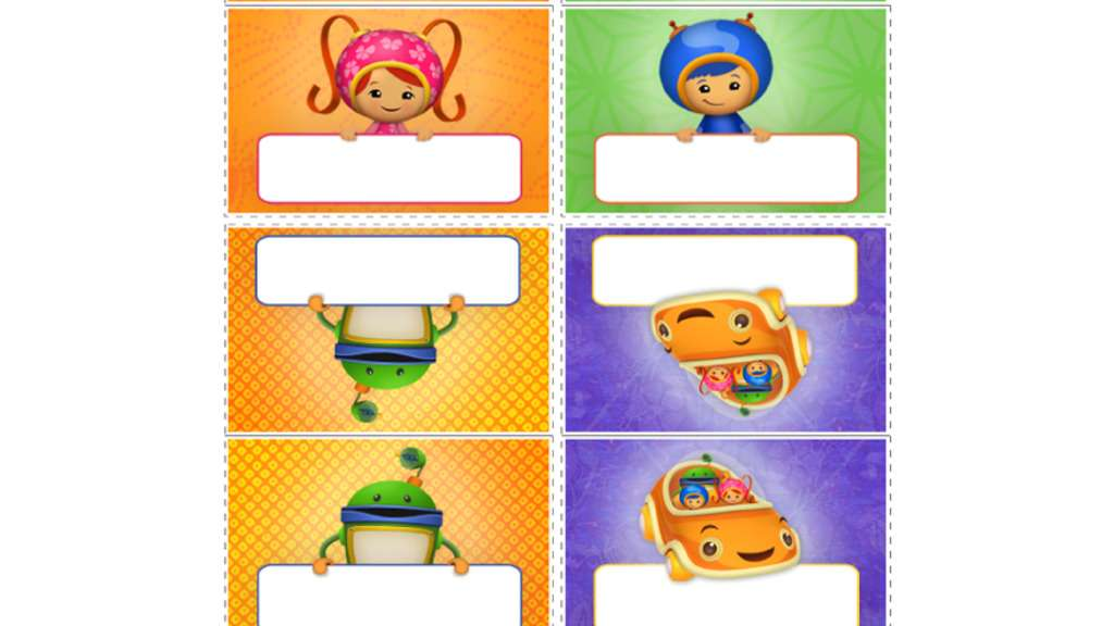 Team Umizoomi Team Umizoomi Placecards Colouring Pages