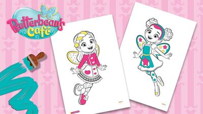 Butterbean 39 s Caf Colouring Pack