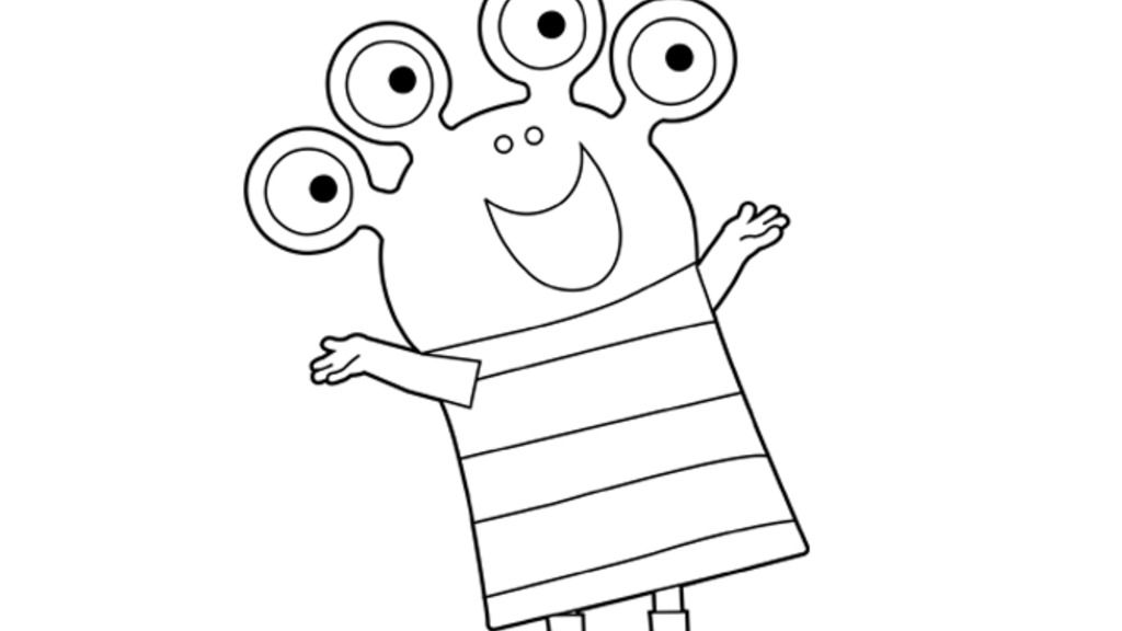Wanda And the alien|Alien: Colouring Pages for Preschoolers
