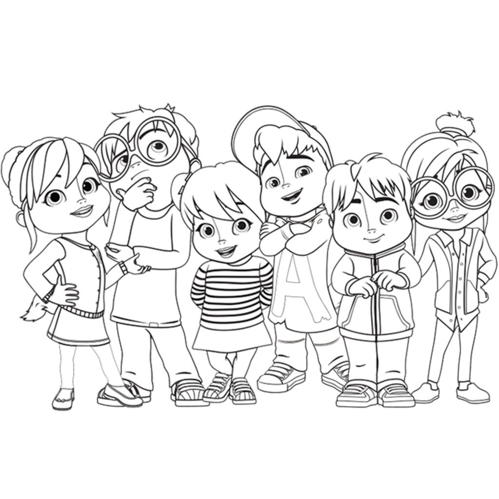 printable coloring pages alvin and chipmunks coloring pages alvin chipmunk coloring pages eliolera - Alvin And The Chipmunks Pictures To Colour