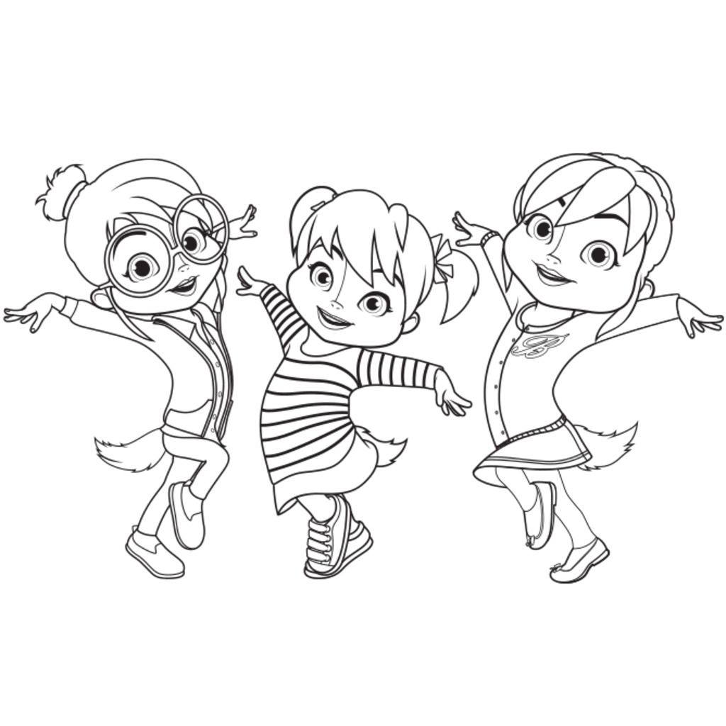 Alvinnn and the chipmunkschipettes colour colouring pages for preschoolers