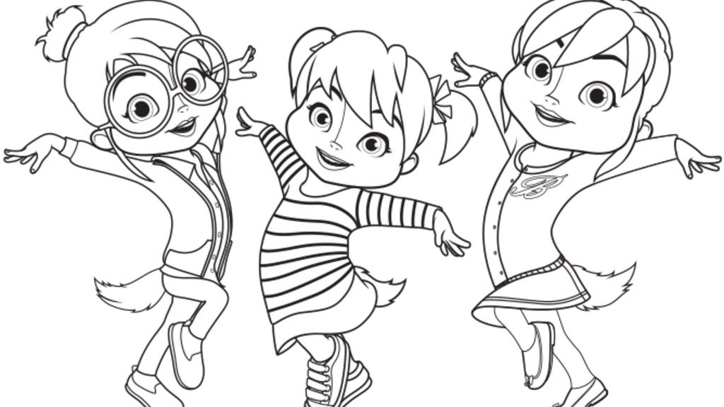 Alvinnn and the chipmunks chipettes colour colouring for Chipmunks coloring pages