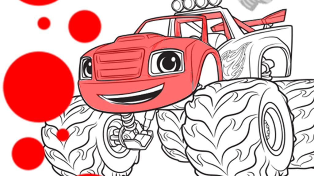 Blaze And The Monster Machines Blaze Colouring Pages For
