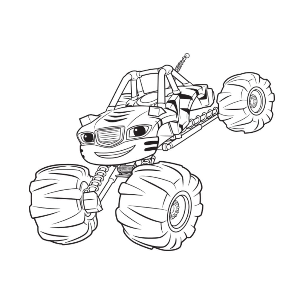 blaze and the monster machines coloring pages coloring page