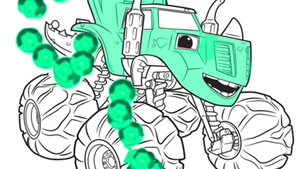 Blaze and the monster machines zeg colouring pages for