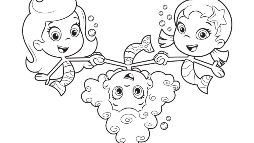 Bubble Guppies|Bubble Guppies Friendship: Colouring Pages
