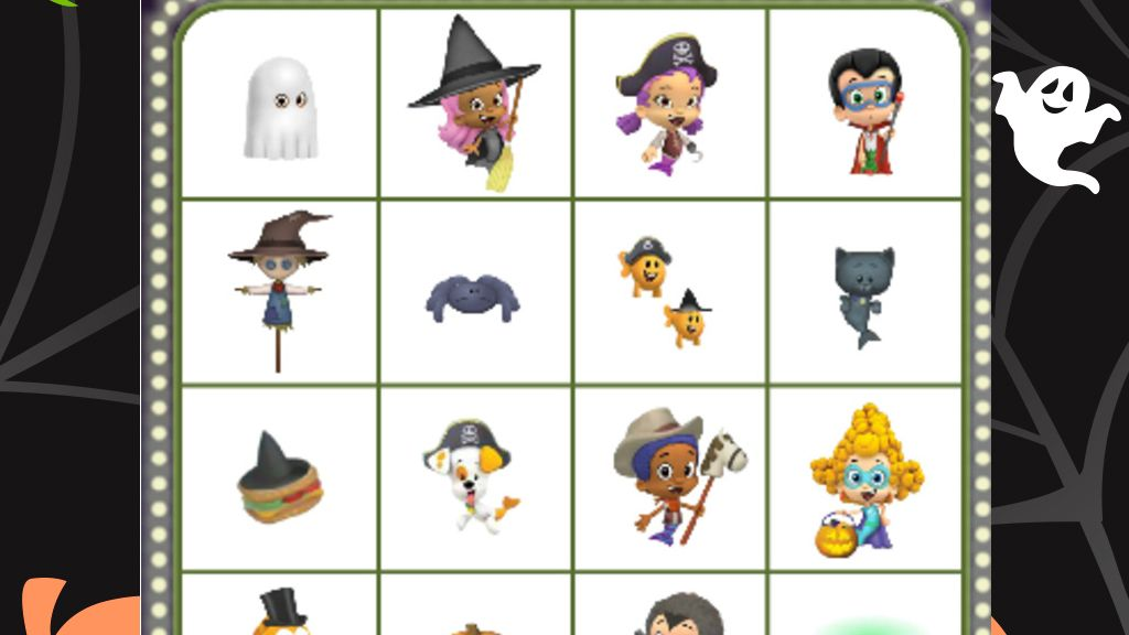 Bubble Guppies Halloween Bingo