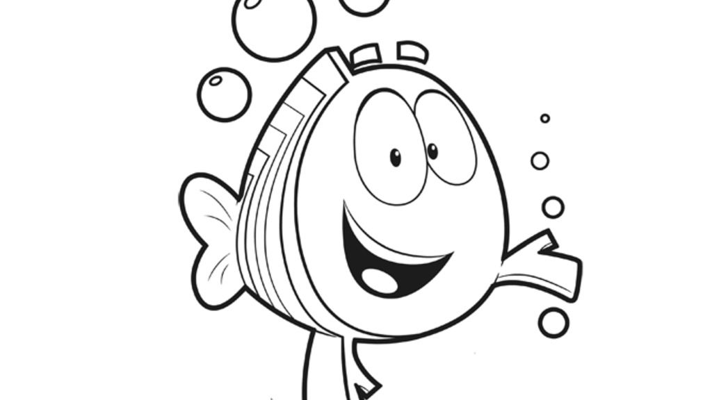 Bubble Guppies Mr Grouper Colouring Pages For Preschoolers