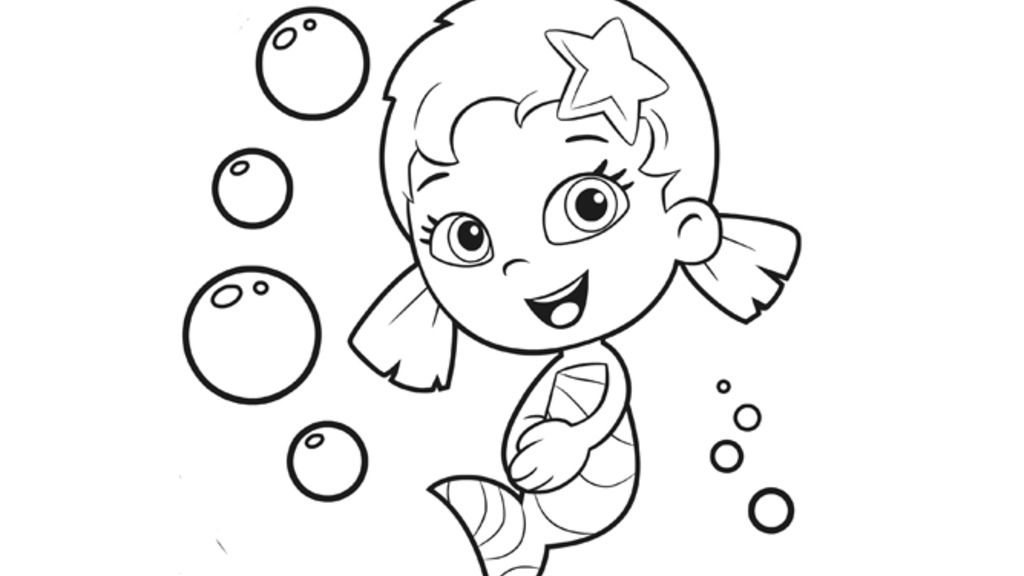 bubble guppiesoona colouring pages for preschoolers nick jr uk