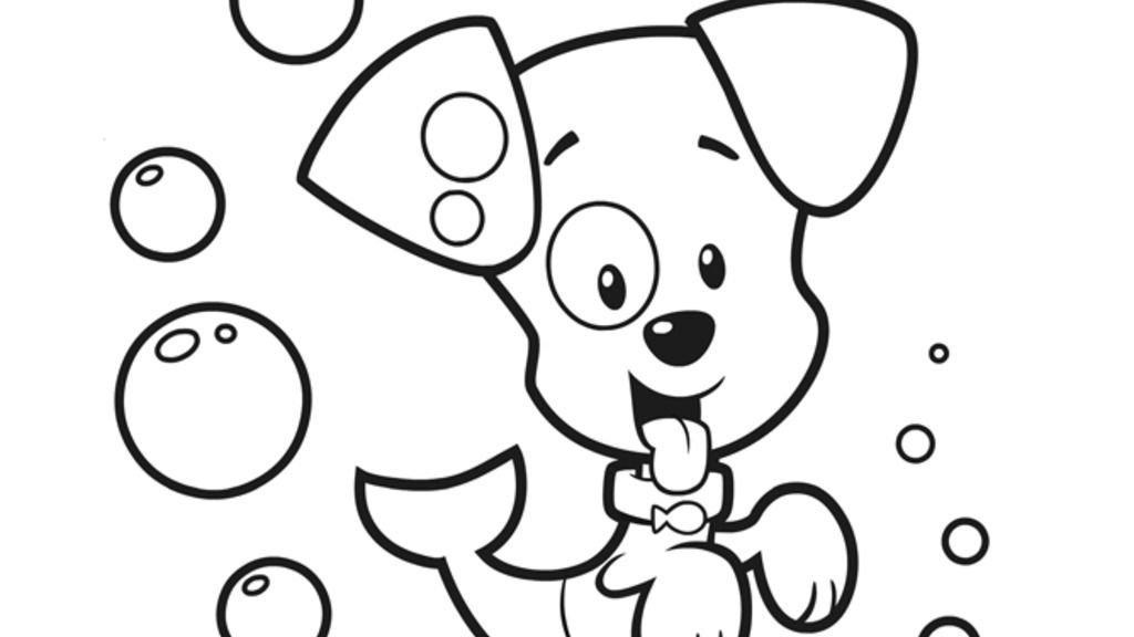 Bubble Guppies Bubble Puppy Colouring Pages For Preschoolers