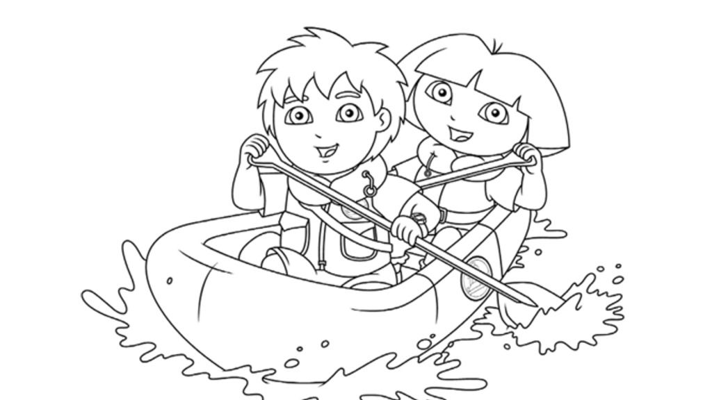 Dora The Explorer|Dora and Diego: Colouring Pages for