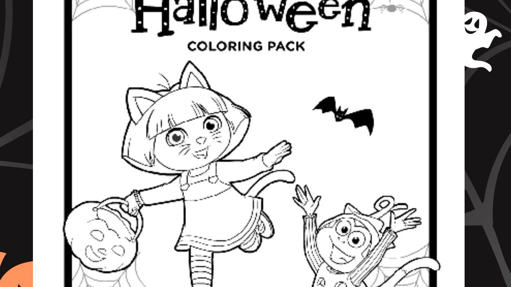 Dora Halloween Colouring Pack Colouring Pages For