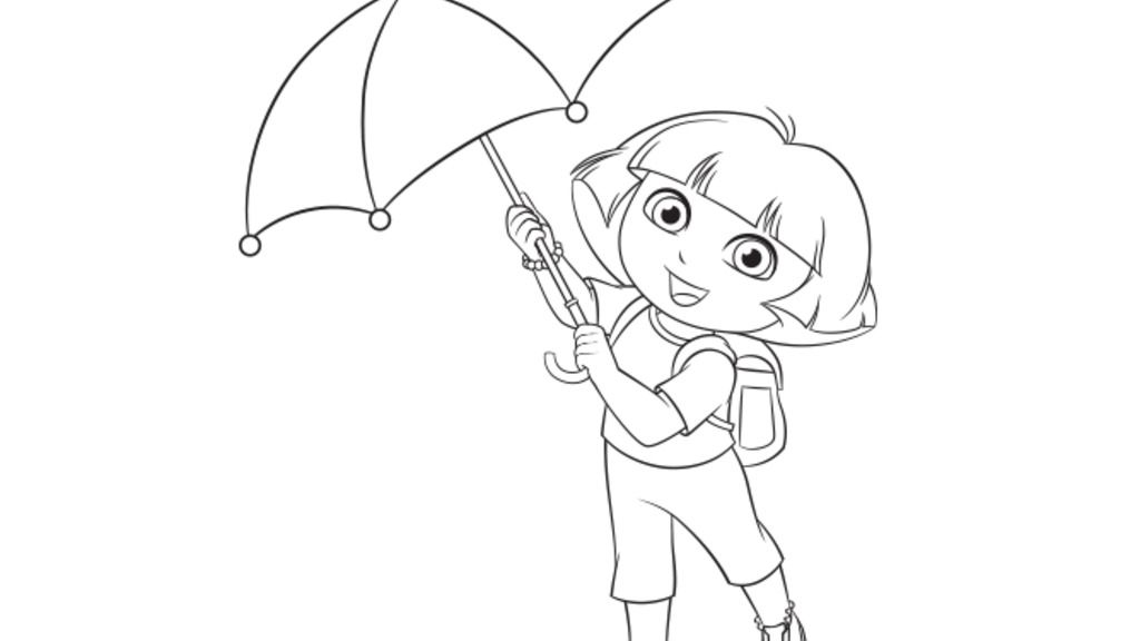 Dora The Explorer|Dora's Umbrella: Colouring Pages for