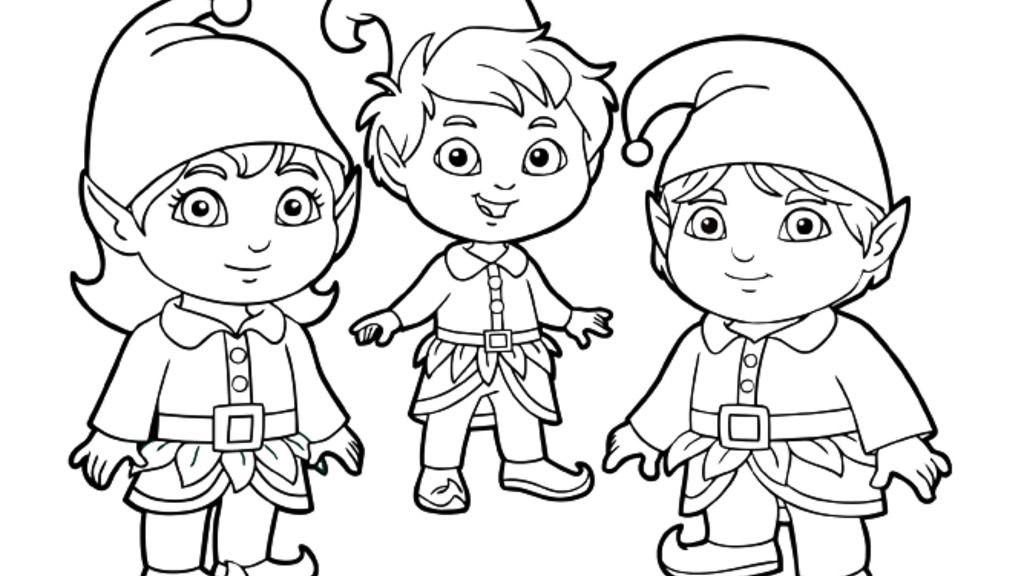 Dora The Explorer|Elves: Colouring Pages for Preschoolers