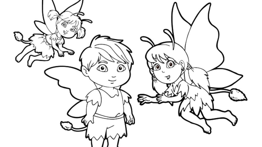 Dora The Explorer|Enchanted Forest Fairies: Colouring