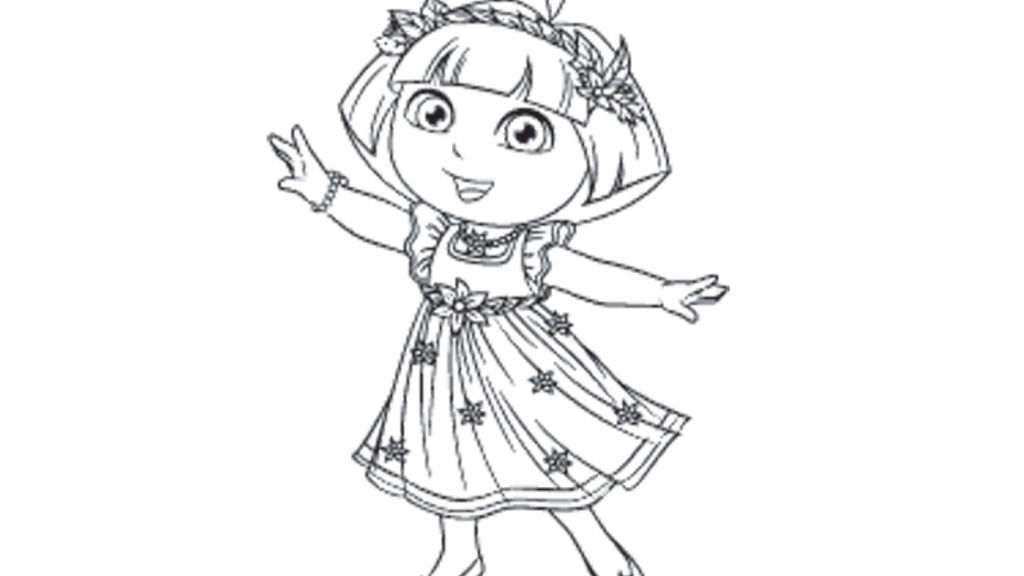 Dora The Explorer|Dora's Enchanted Forest: Colouring Pages