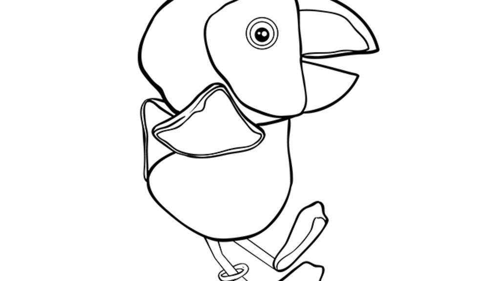 Lily's Driftwood Bay|Puffin: Colouring Pages for Preschoolers