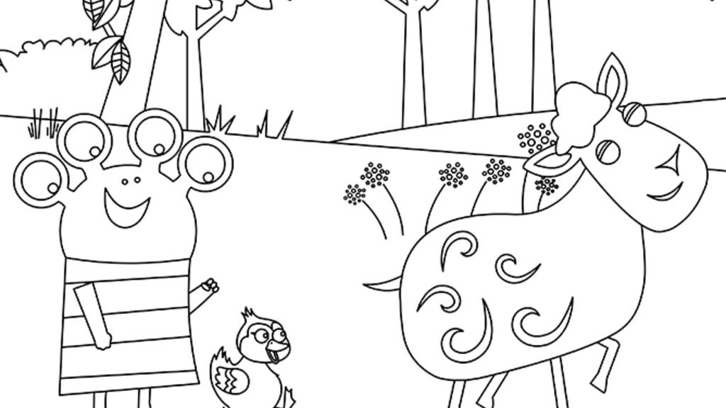 zack and quack coloring pages - photo#42