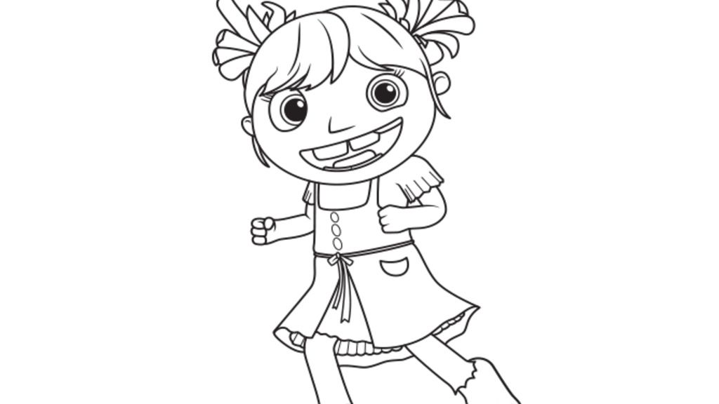 Wallykazam Gina Giant Colouring Pages For Preschoolers