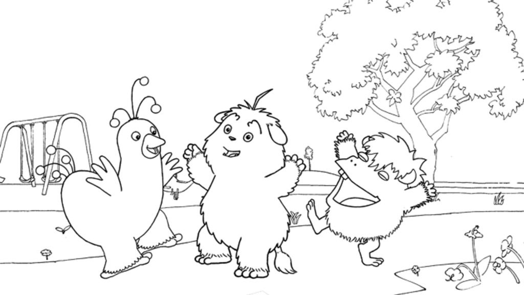 Humf Humf And Friends Colouring Pages For Preschoolers