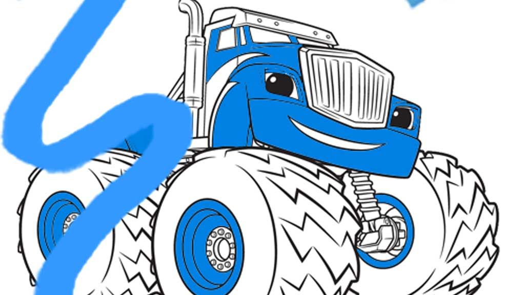Blaze Crusher Colouring Page