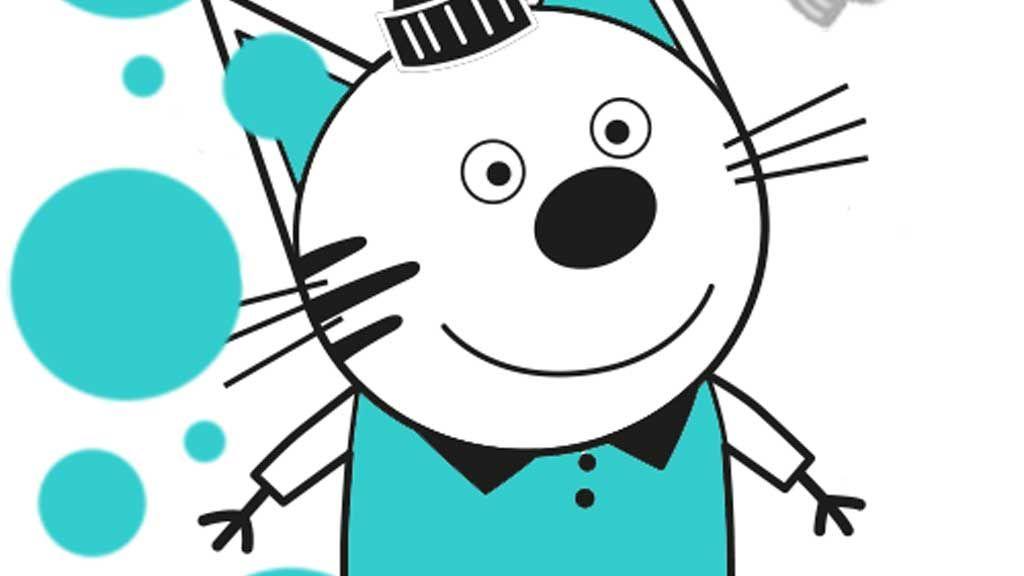 Kid E Cats Meet Pudding Colouring Page