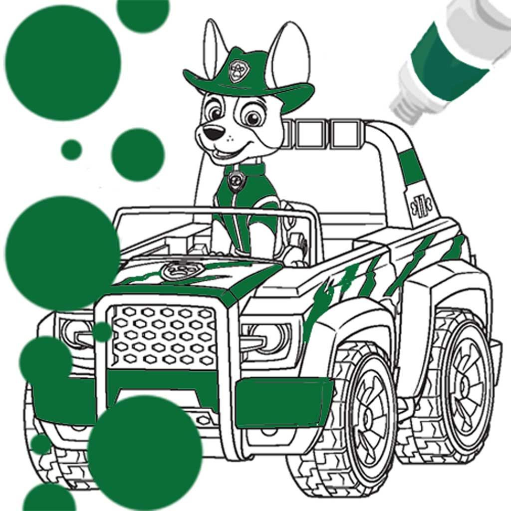 - PAW Patrol: Tracker Vehicle Colouring Page