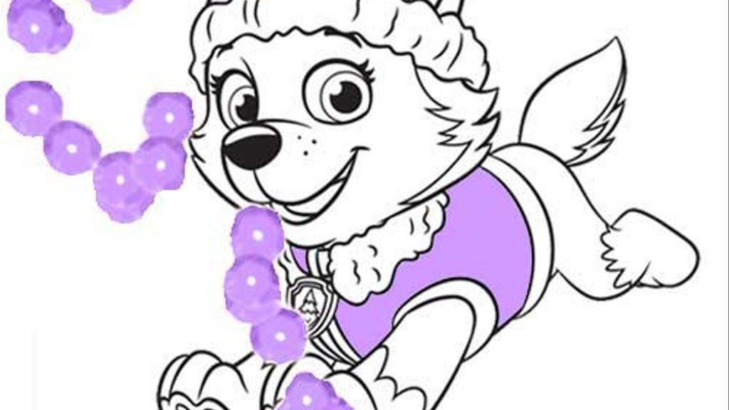 Paw Patrol Everest Colouring Pages For Preschoolers