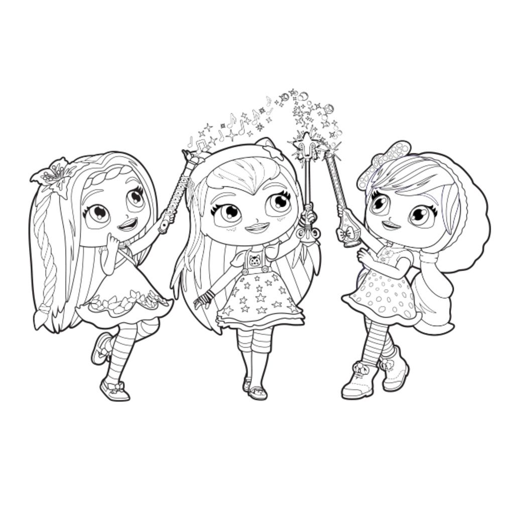little charmers coloring pages Little Charmers|Little Charmers Group Colour: Colouring Pages for  little charmers coloring pages