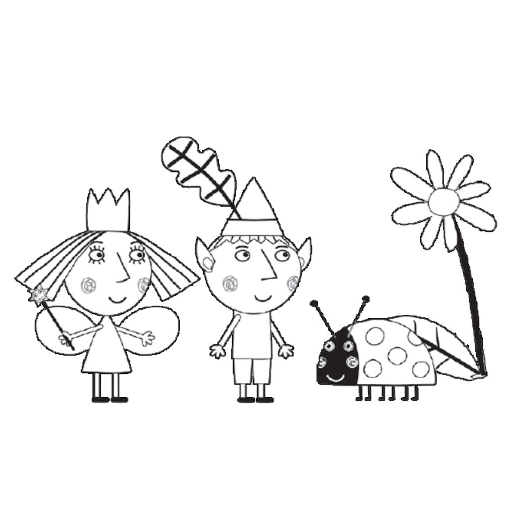 Printable Ben and Holly Little Kingdom Coloring Page | Ben ...