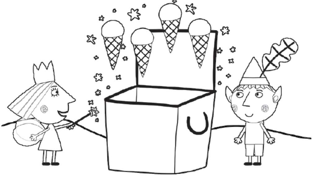little-kingdom|Ice-creams: Colouring Pages for