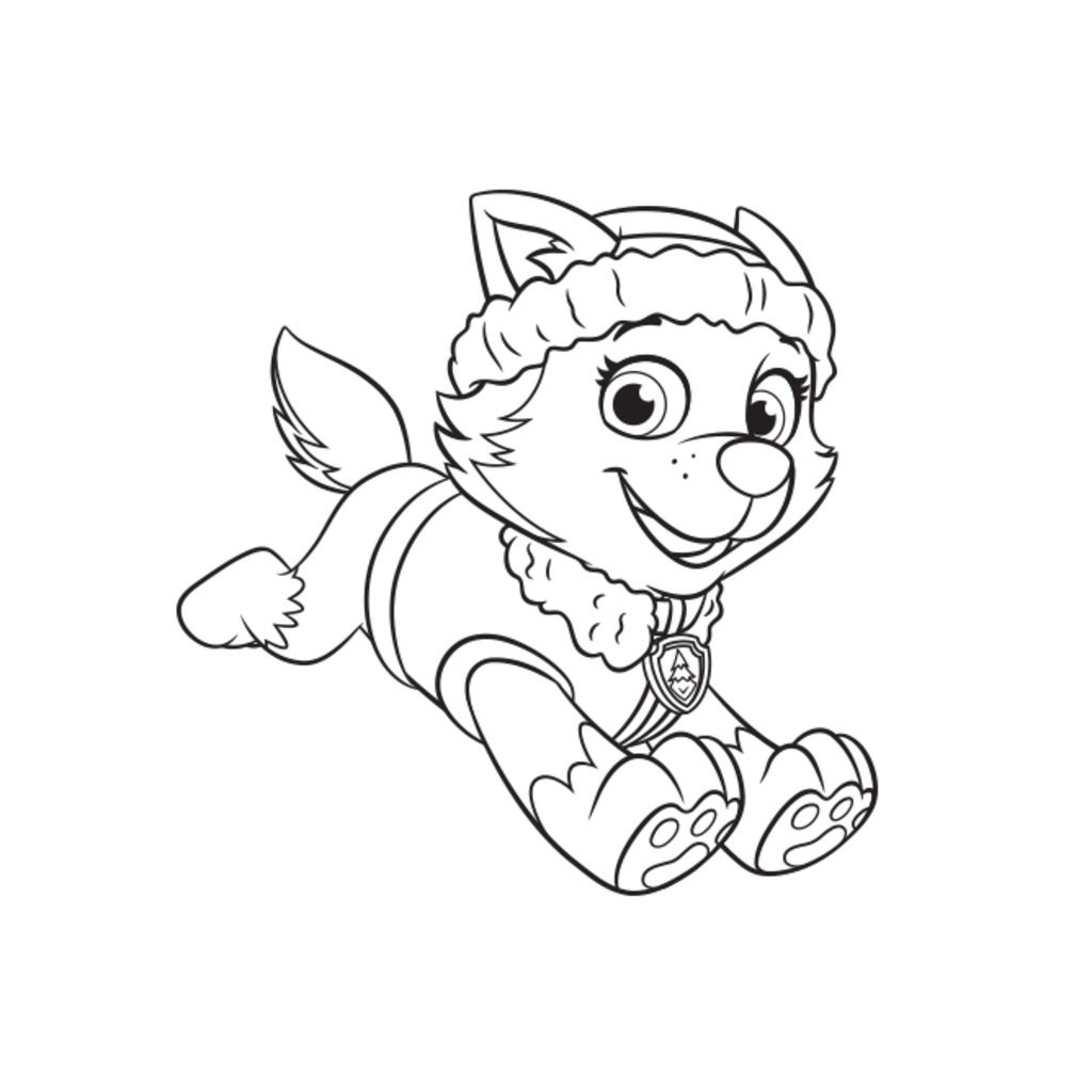paw patrol everest coloring page coloring page