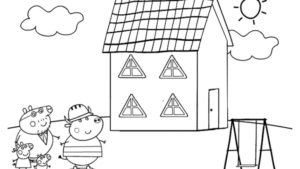Peppa Pig - The New House - Triangle Windows And