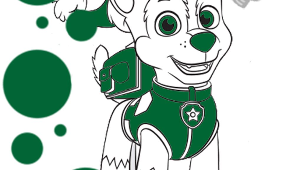 Paw Patrol Chase Christmas Colouring Page