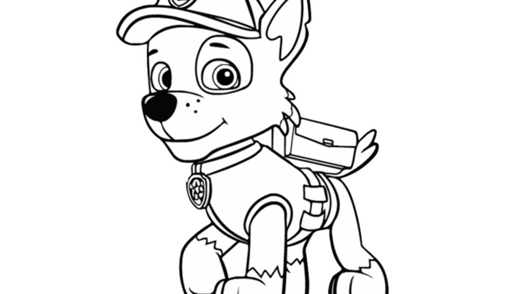 Paw Patrol Paw Patrol Rocky Colouring Pages For