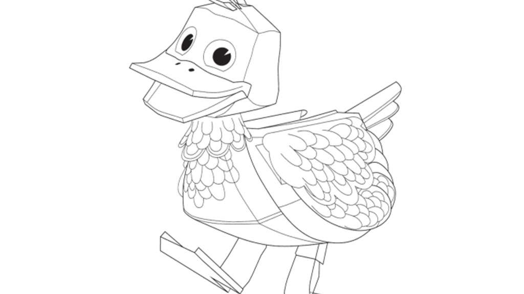 zack and quack coloring pages - photo#3
