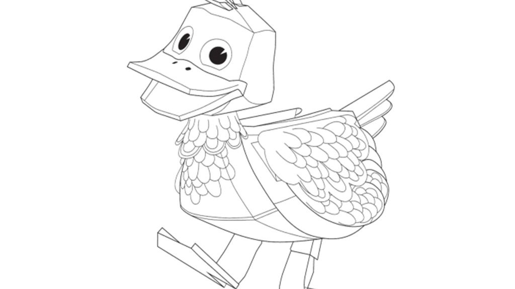 Zack And Quack Quack Colouring Pages For Preschoolers