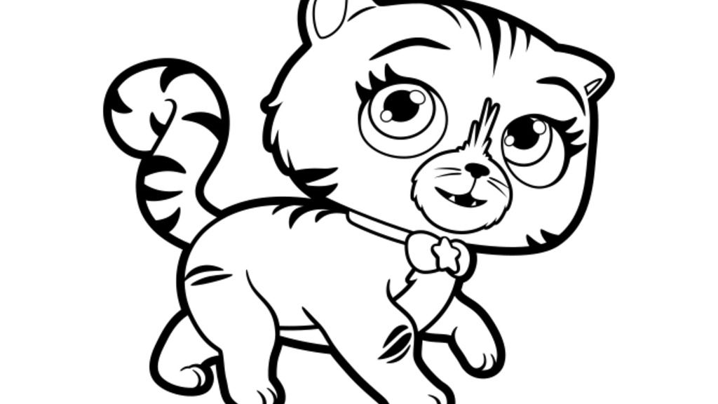 Little Charmers Seven Colour Colouring Pages For Preschoolers
