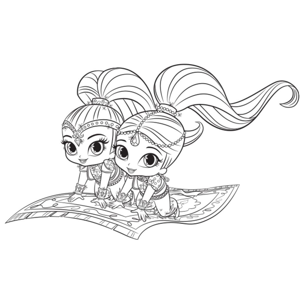 shimmer and shine magic carpet colouring page Shimmer and Shine Nick Jr Coloring Pages  Coloring Pages Shimmer And Shine